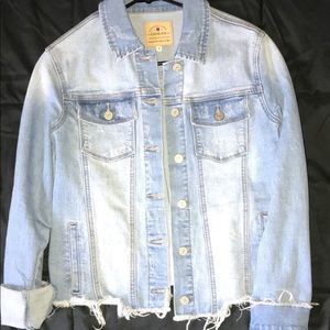 Cropped/Ripped jean jacket